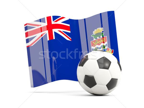 Football with waving flag of cayman islands isolated on white Stock photo © MikhailMishchenko