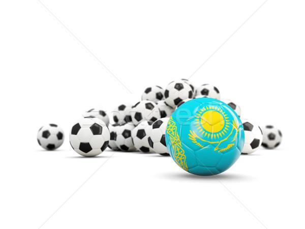 Fußball Flagge isoliert weiß 3D-Darstellung Sport Stock foto © MikhailMishchenko