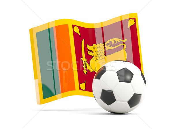 Football with waving flag of sri lanka isolated on white Stock photo © MikhailMishchenko