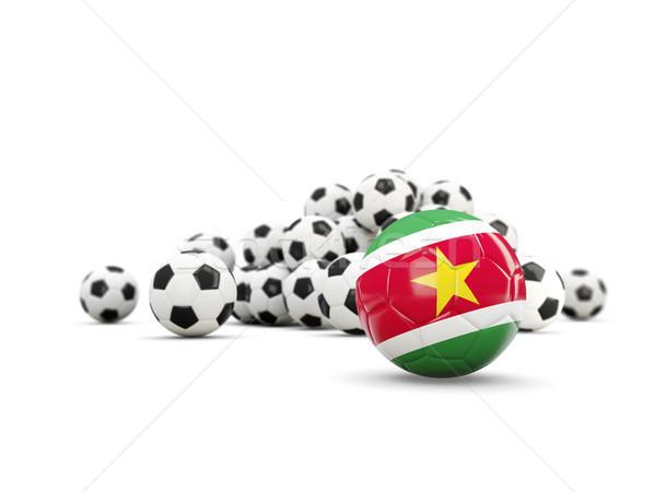 футбола флаг изолированный белый 3d иллюстрации Футбол Сток-фото © MikhailMishchenko