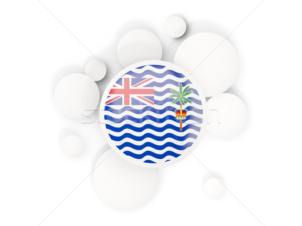 Round flag of british indian ocean territory with circles patter Stock photo © MikhailMishchenko