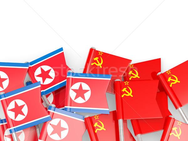 Bayrak kuzey sscb yalıtılmış beyaz 3d illustration Stok fotoğraf © MikhailMishchenko