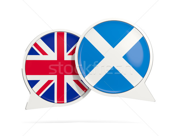 Chat bubbles of UK and Scotland isolated on white Stock photo © MikhailMishchenko