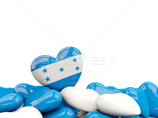 Cuore bandiera Honduras top cuori isolato Foto d'archivio © MikhailMishchenko