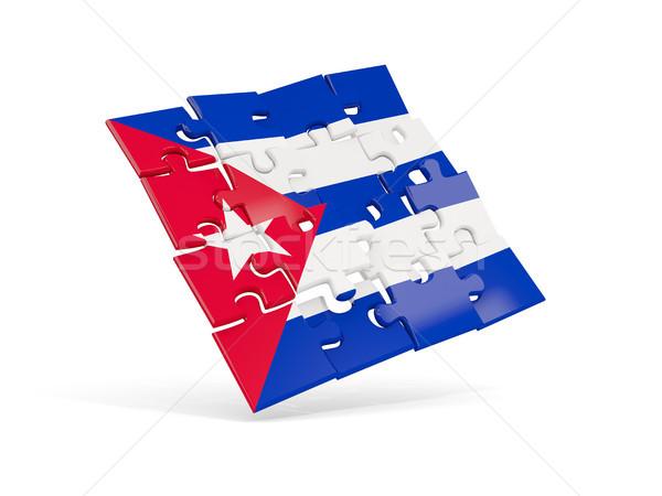Puzzle bandiera Cuba isolato bianco illustrazione 3d Foto d'archivio © MikhailMishchenko