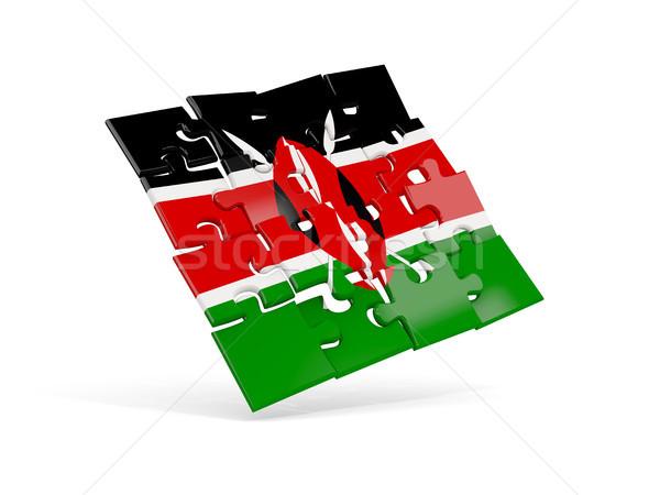Puzzle zászló Kenya izolált fehér 3d illusztráció Stock fotó © MikhailMishchenko
