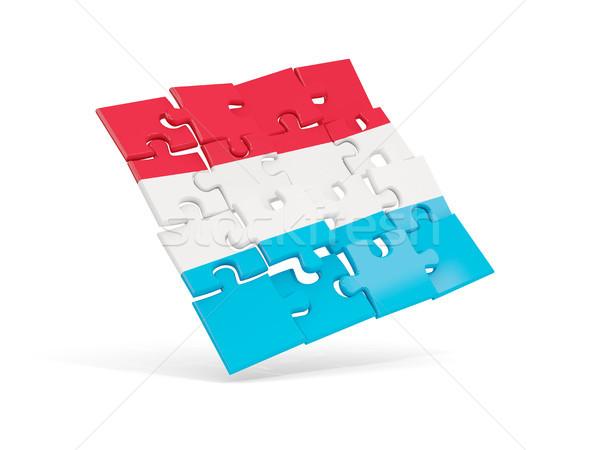 Puzzel vlag Luxemburg geïsoleerd witte 3d illustration Stockfoto © MikhailMishchenko