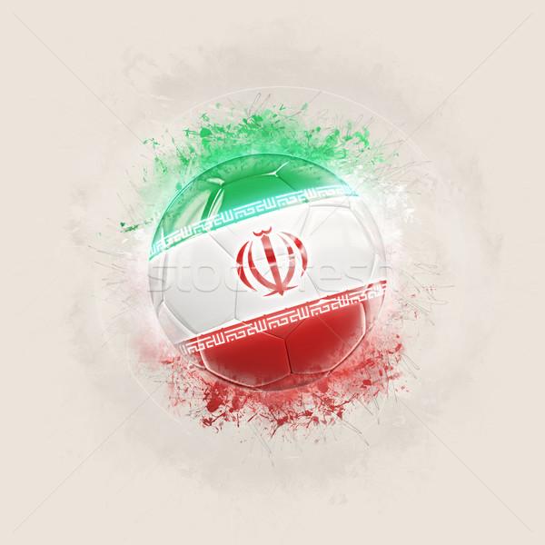 Grunge futball zászló Irán 3d illusztráció világ Stock fotó © MikhailMishchenko