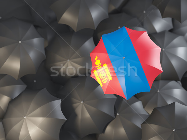 Umbrella with flag of mongolia Stock photo © MikhailMishchenko