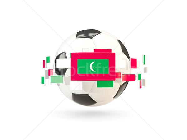 футбольным мячом линия флагами флаг Мальдивы Сток-фото © MikhailMishchenko