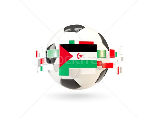Balón de fútbol línea banderas bandera occidental sáhara Foto stock © MikhailMishchenko