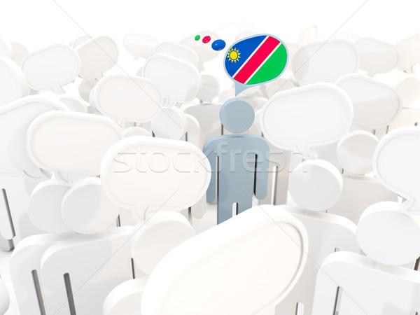 Férfi zászló Namíbia tömeg 3d illusztráció felirat Stock fotó © MikhailMishchenko