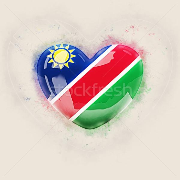 Heart with flag of namibia Stock photo © MikhailMishchenko