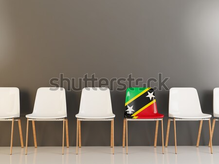 Chair with flag of democratic republic of the congo Stock photo © MikhailMishchenko