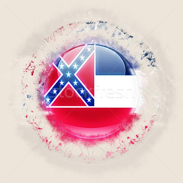 Mississipi bayrak grunge ikon Amerika Birleşik Devletleri yerel Stok fotoğraf © MikhailMishchenko