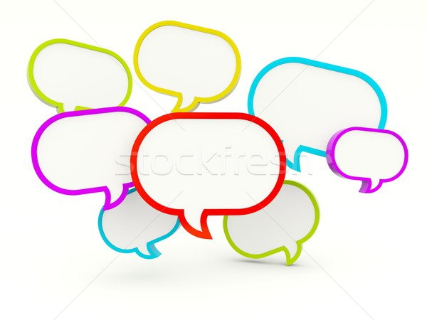 Speech bubbles Stock photo © MikhailMishchenko