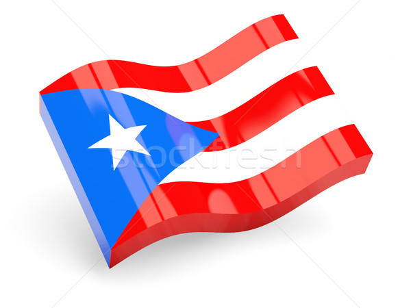 3D vlag Puerto Rico geïsoleerd witte reizen Stockfoto © MikhailMishchenko