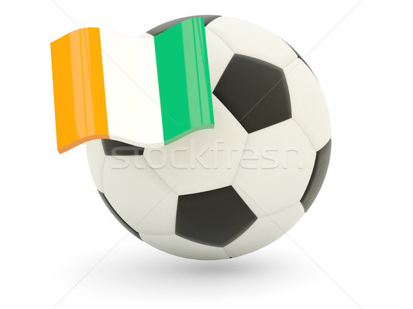 Football with flag of cote d Ivoire Stock photo © MikhailMishchenko