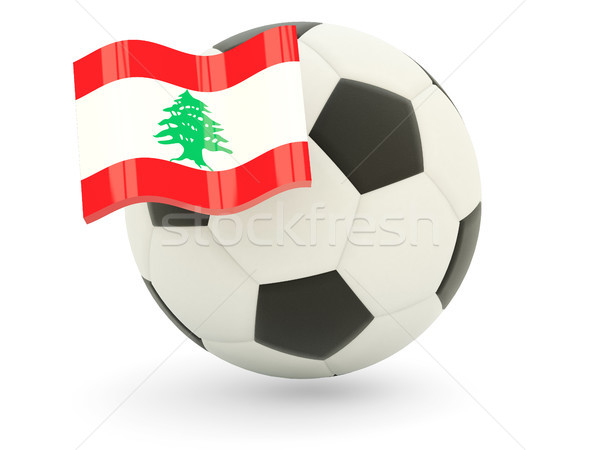 Futball zászló Libanon izolált fehér sport Stock fotó © MikhailMishchenko
