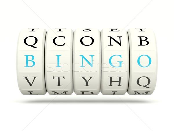Bingó játékautomata izolált fehér levél siker Stock fotó © MikhailMishchenko