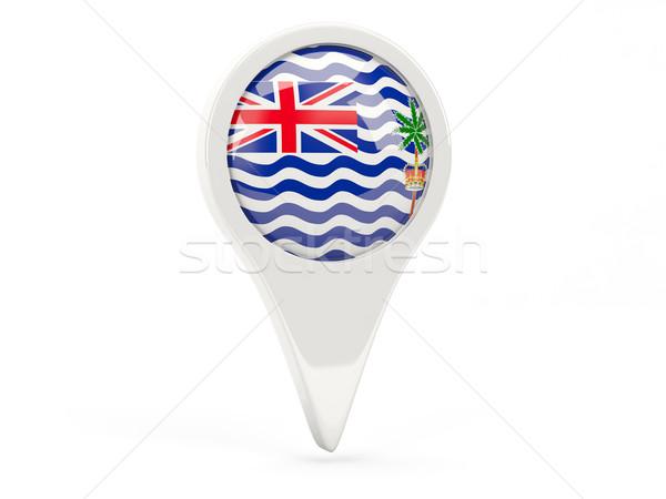 Round flag icon of british indian ocean territory Stock photo © MikhailMishchenko