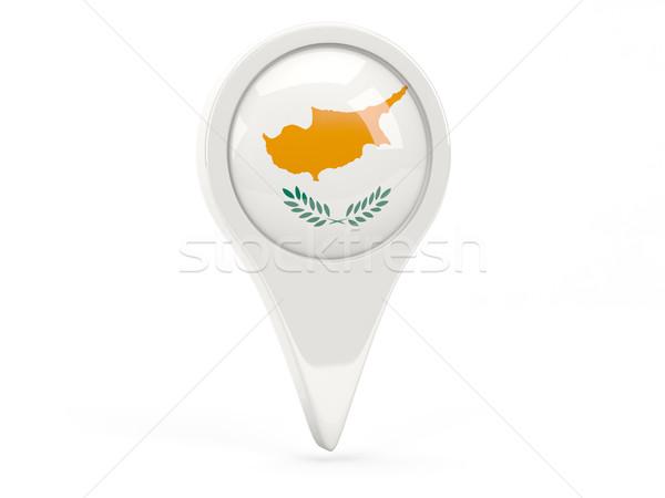 флаг икона Кипр изолированный белый карта Сток-фото © MikhailMishchenko