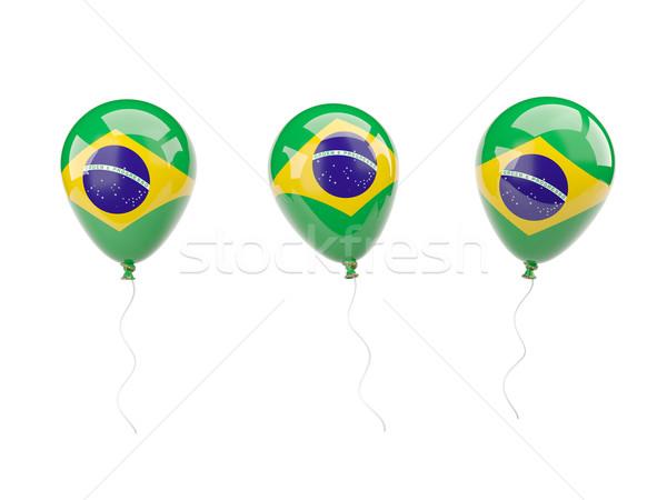 Air balloons with flag of brazil Stock photo © MikhailMishchenko