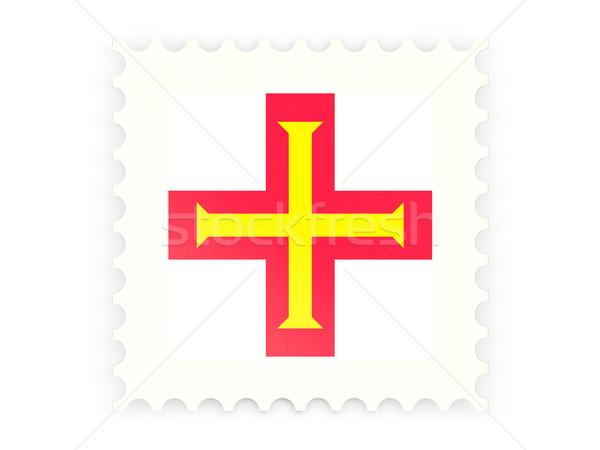 Postabélyeg ikon izolált fehér posta bélyeg Stock fotó © MikhailMishchenko