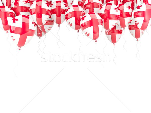 Globo marco bandera Georgia aislado blanco Foto stock © MikhailMishchenko