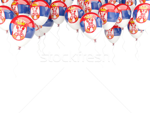 Balloon frame with flag of serbia Stock photo © MikhailMishchenko