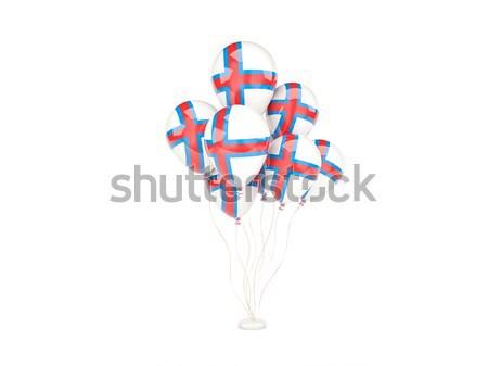 Vuelo globos bandera Dinamarca aislado blanco Foto stock © MikhailMishchenko