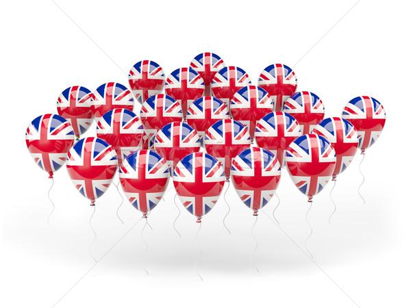 Palloncini bandiera Regno Unito isolato bianco paese Foto d'archivio © MikhailMishchenko