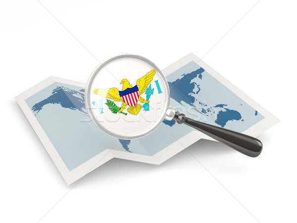 флаг США Виргинские о-ва карта Сток-фото © MikhailMishchenko