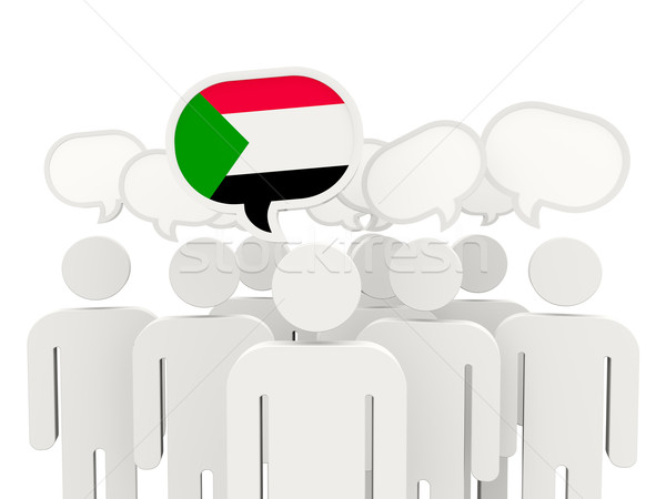 People with flag of sudan Stock photo © MikhailMishchenko