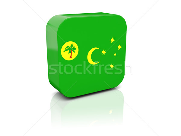 Square icon with flag of cocos islands Stock photo © MikhailMishchenko