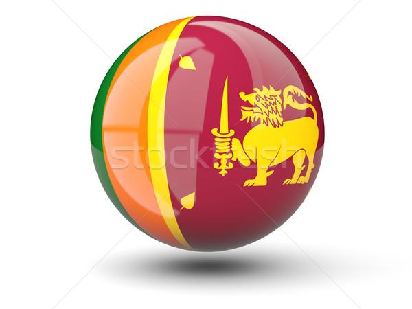 Ikona banderą Sri Lanka odizolowany biały podróży Zdjęcia stock © MikhailMishchenko