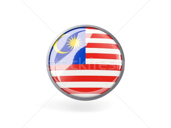 Round icon with flag of malaysia Stock photo © MikhailMishchenko