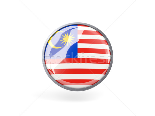 ícone bandeira Malásia metal quadro viajar Foto stock © MikhailMishchenko