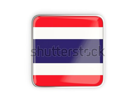 Botón bandera Costa Rica metal marco viaje Foto stock © MikhailMishchenko