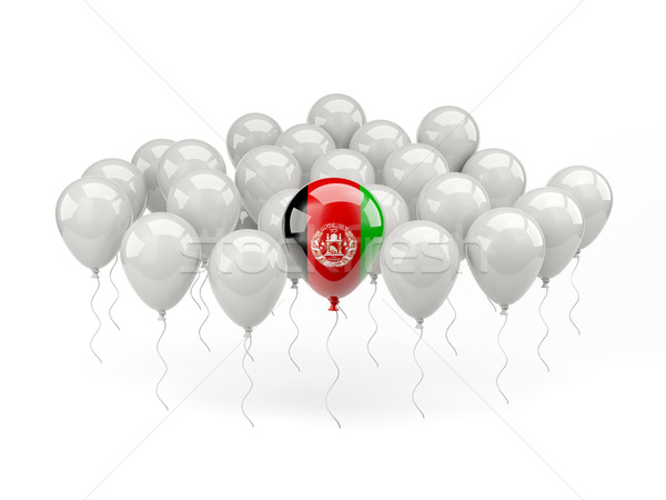 Air balloons with flag of afghanistan Stock photo © MikhailMishchenko
