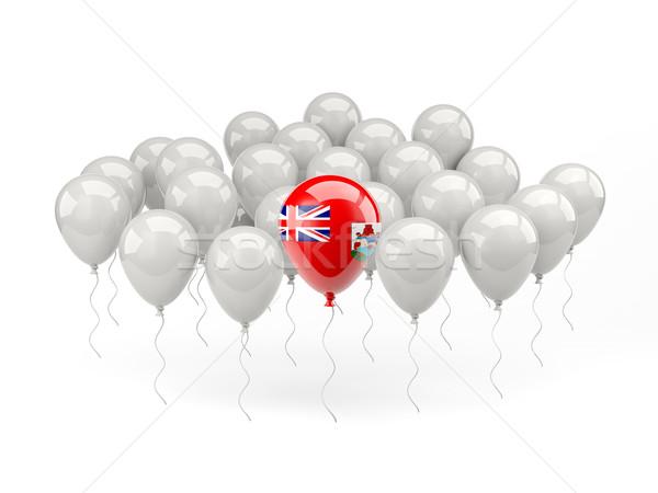 Air balloons with flag of bermuda Stock photo © MikhailMishchenko