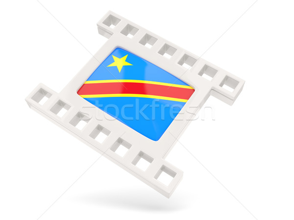 Movie icon with flag of democratic republic of the congo Stock photo © MikhailMishchenko