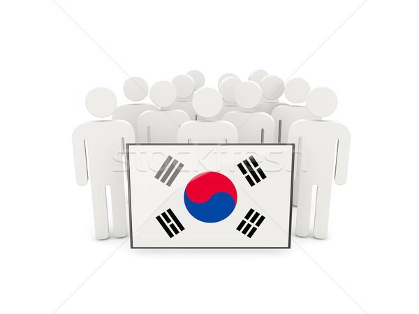 People with flag of south korea Stock photo © MikhailMishchenko