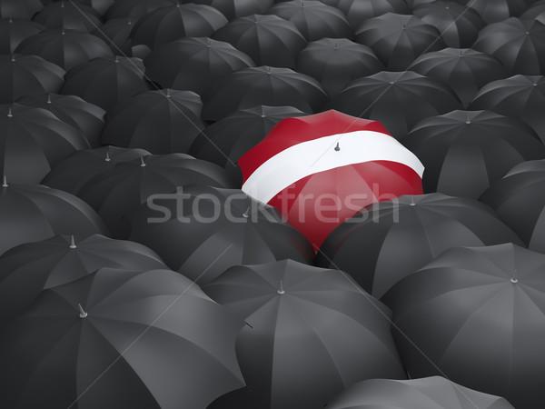 зонтик флаг Латвия черный путешествия Сток-фото © MikhailMishchenko