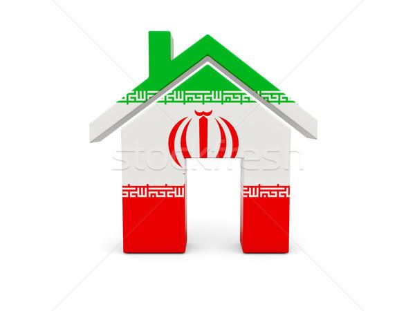 Ev bayrak İran yalıtılmış beyaz arama Stok fotoğraf © MikhailMishchenko