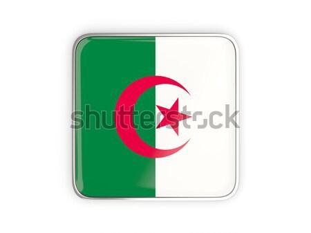 Pavillon étiquette Algérie isolé blanche signe Photo stock © MikhailMishchenko