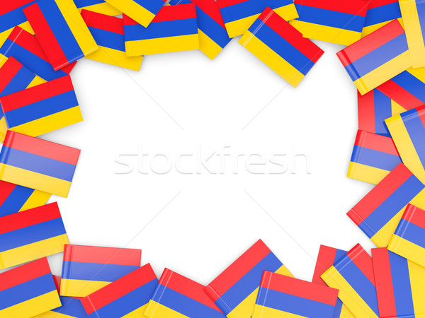 フレーム フラグ アルメニア 孤立した 白 ストックフォト © MikhailMishchenko