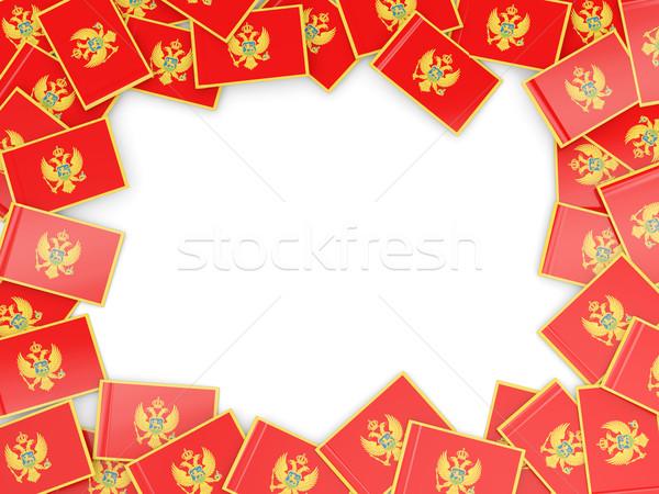 Сток-фото: кадр · флаг · Черногория · изолированный · белый