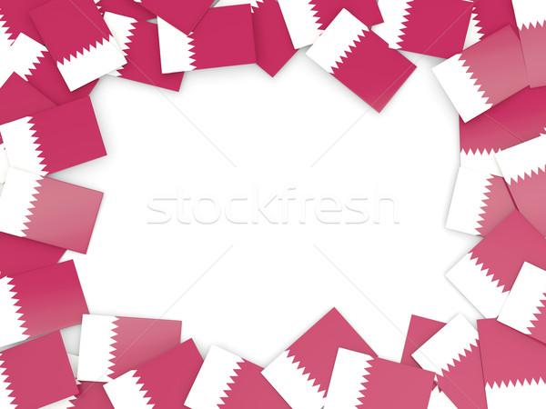Frame with flag of qatar Stock photo © MikhailMishchenko