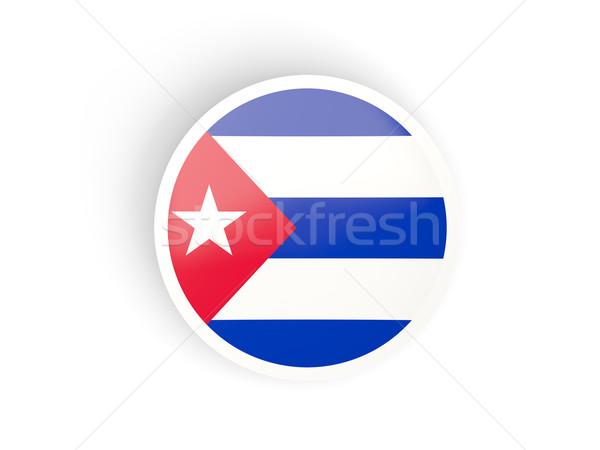 ステッカー フラグ キューバ 孤立した 白 旅行 ストックフォト © MikhailMishchenko